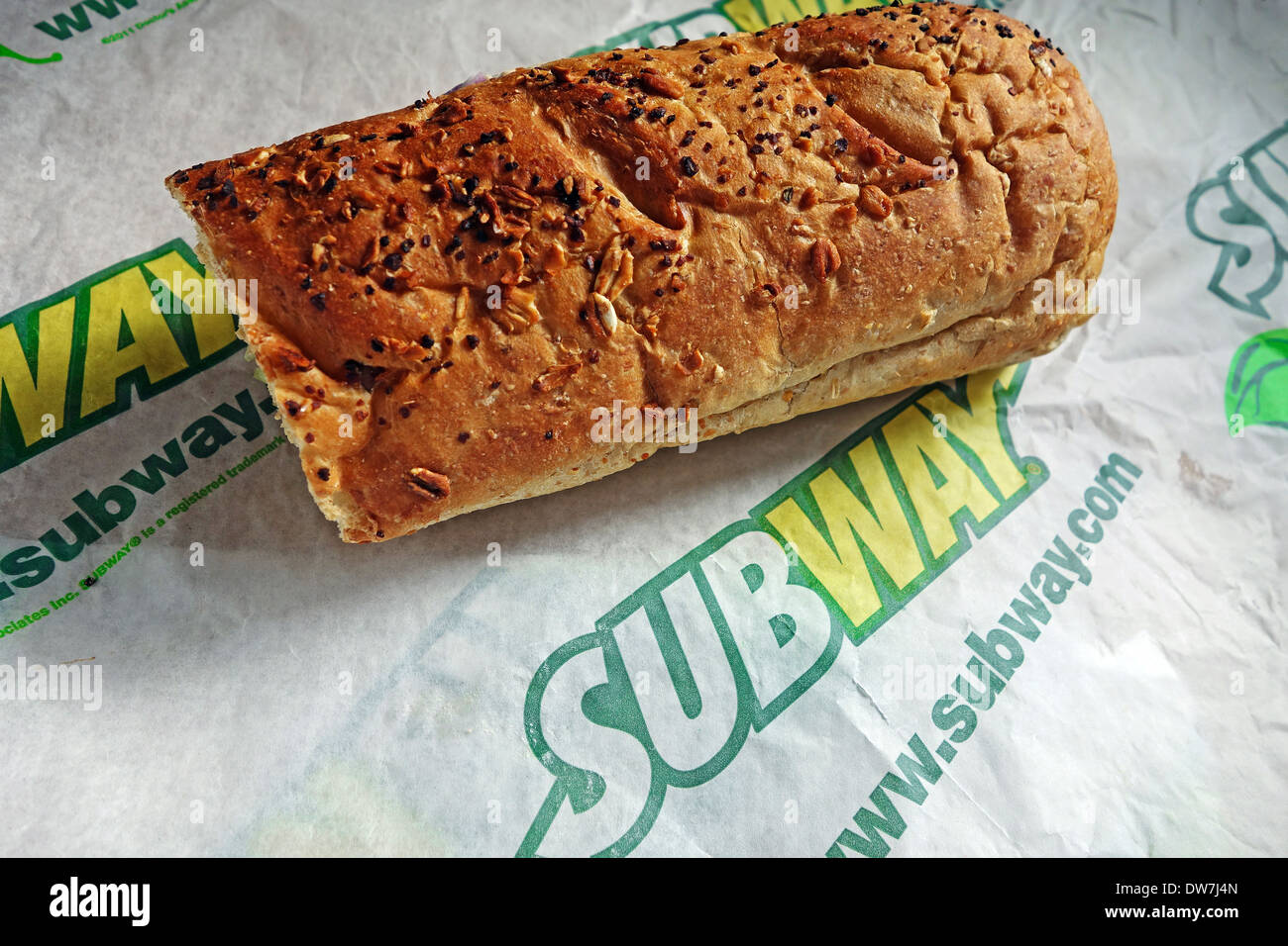 Metropolitana società sandwich Immagini Stock
