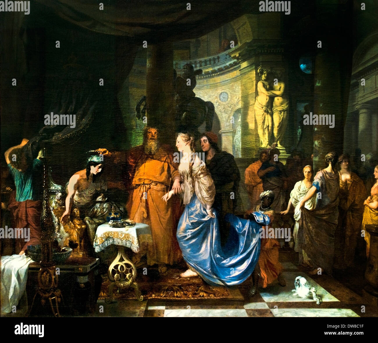 Antioco e Stratonike1676 Gerard de Lairesse 1641 - prima 1711 Paesi Bassi olandese Antioco stava morendo di amore per il suo giovane s Immagini Stock