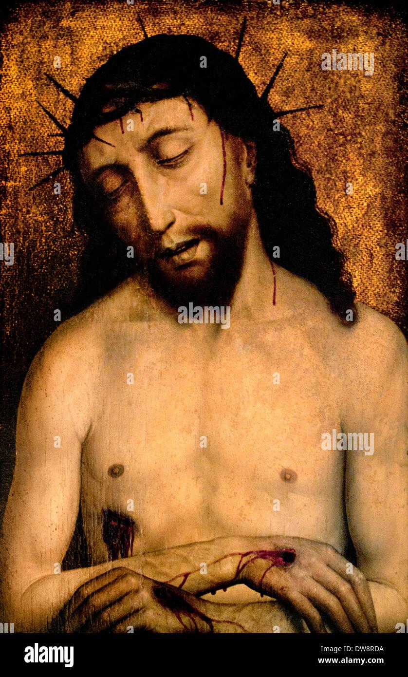 Cristo in Pietà 1460 SIMON MARMION 1420 - 1489 Francia - Francese Immagini Stock