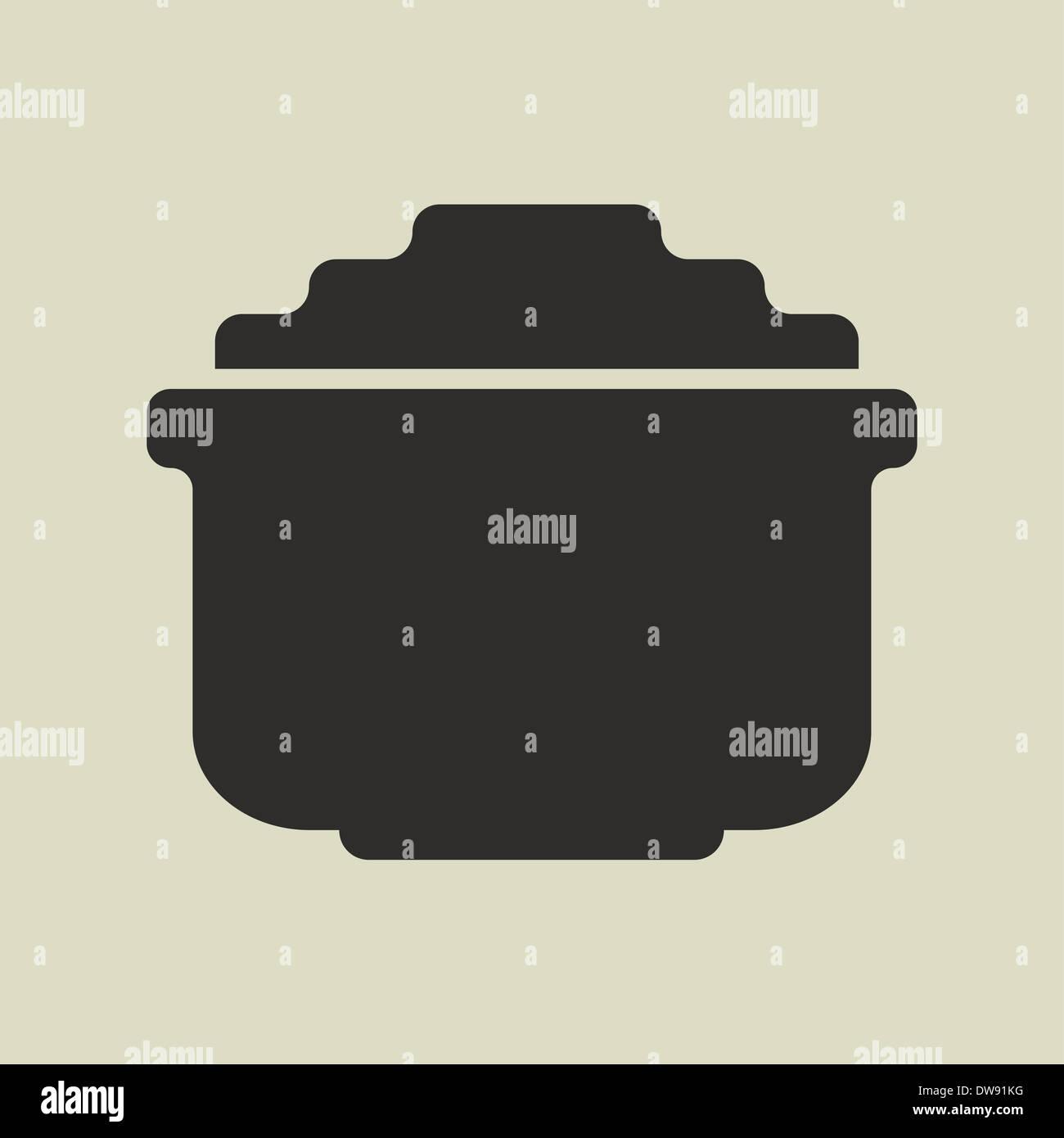 Stilizzata shiny cartoon pentola d'oro Immagini Stock