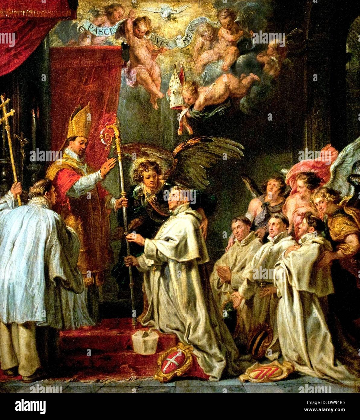 La dedizione del Beato San Norberto Waltman da Abraham van Diepenbeeck 1596-1675 olandese Paesi Bassi Immagini Stock