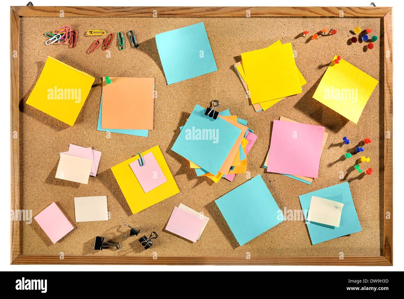 Bacheche Per Ufficio : Colorate in bianco di post it e forniture per ufficio sul sughero