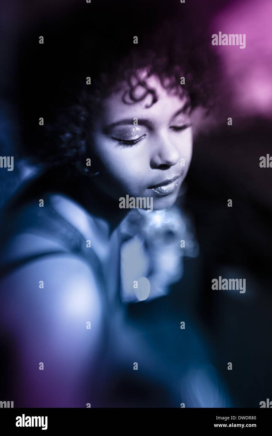 Ritratto di donna afro-americani Foto Stock