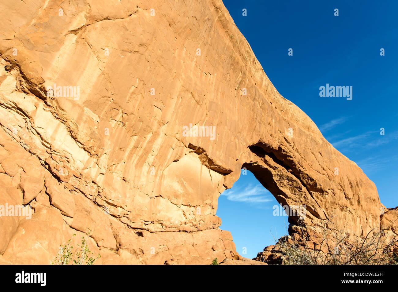 Finestra del nord, il Parco Nazionale di Arches, Moab, USA Utah Immagini Stock