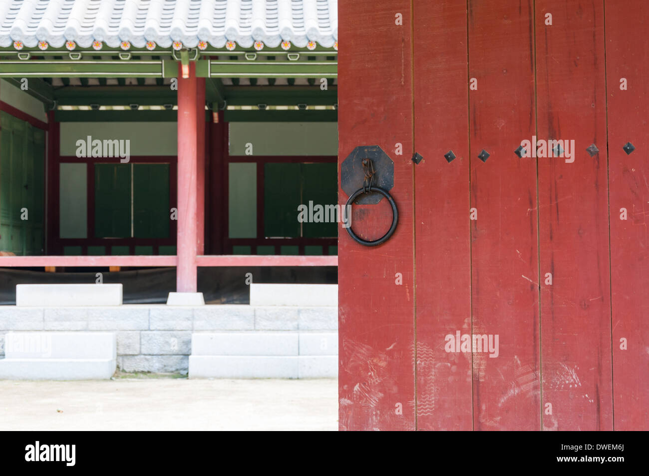 Tradizionale architettura coreana in un villaggio storico in Corea del Sud. Immagini Stock
