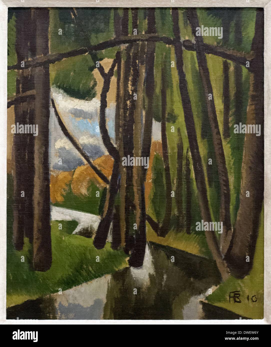 Roger de la Fresnaye - sous bois - 1910 - Museo di Arte Moderna di Parigi Immagini Stock