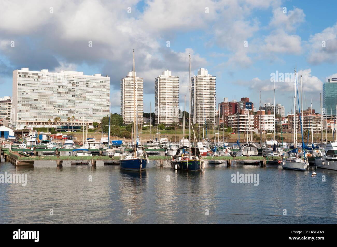 Marina di Montevideo Immagini Stock