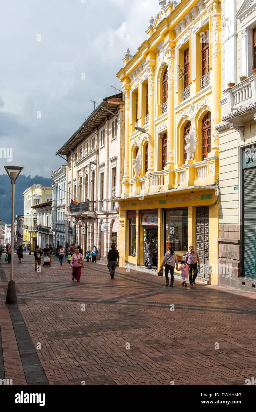 Quito - Calle Algodon Immagini Stock