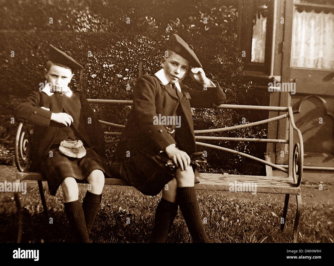 Due figli di Re Giorgio V Immagini Stock