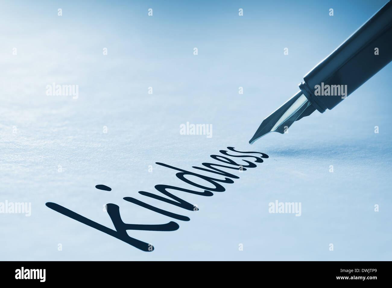 Penna stilografica iscritto gentilezza Immagini Stock