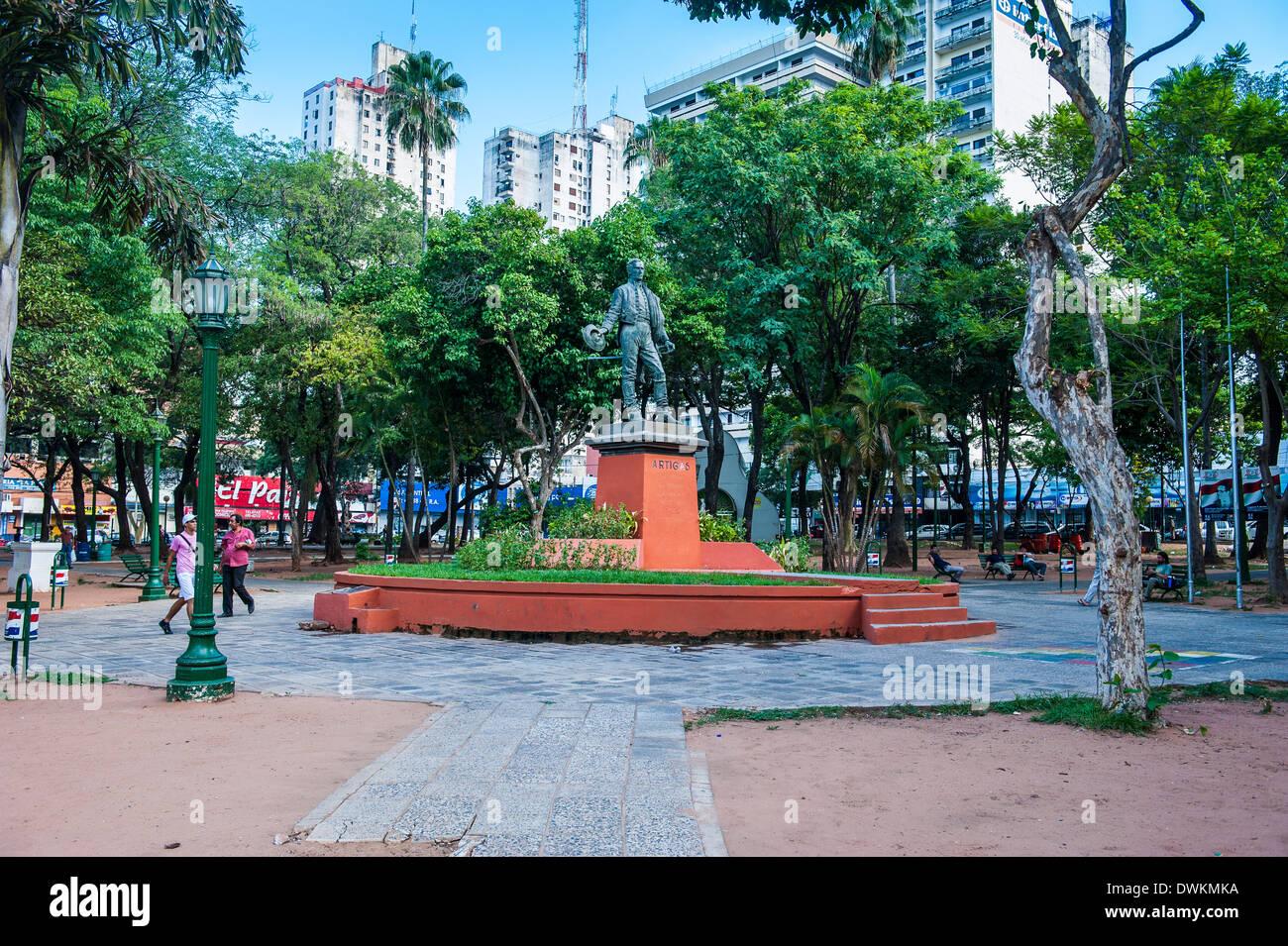 Uruguay quadrato in Asuncion in Paraguay, Sud America Immagini Stock