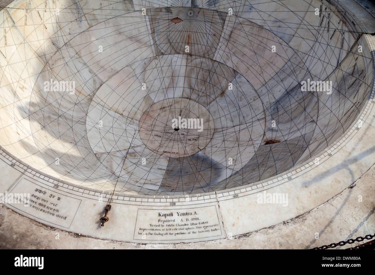 Jaipur, Rajasthan, India. Jantar Mantar, un settecentesco sito per le osservazioni astronomiche, adesso sito del Patrimonio Mondiale. Immagini Stock
