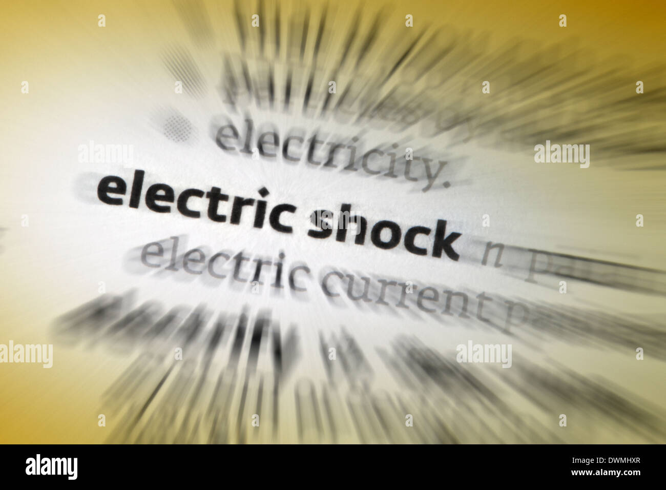Scossa elettrica Immagini Stock