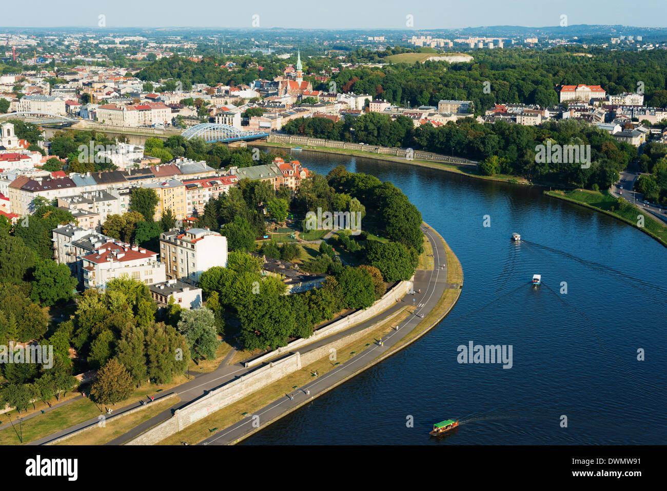 Fiume Vistola, Cracovia, Malopolska, Polonia, Europa Immagini Stock