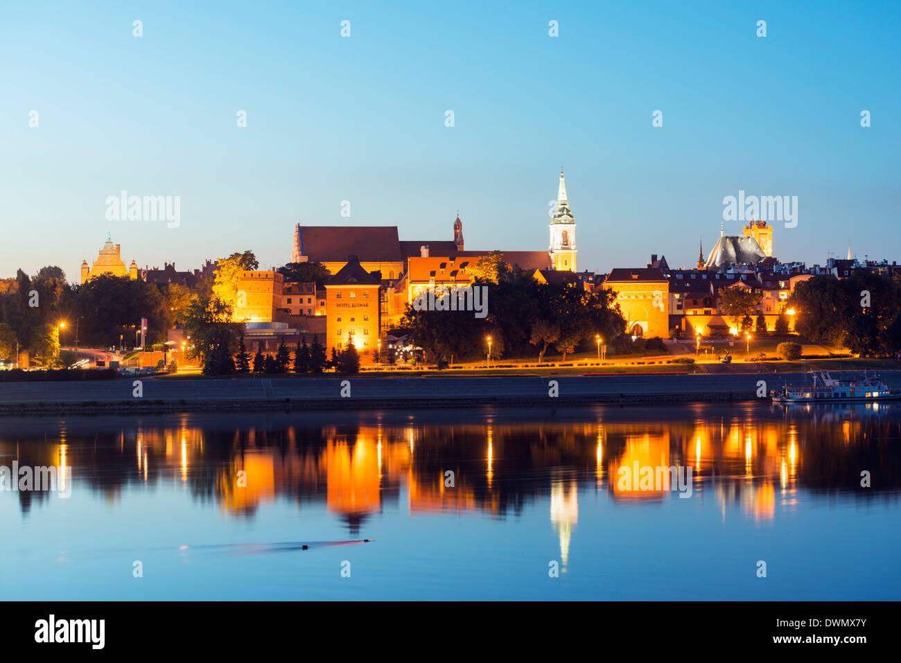 Europa, Polonia, Gdansk e Pomerania, Torun, Unesco Città Vecchia medievale, fiume Vistola Immagini Stock