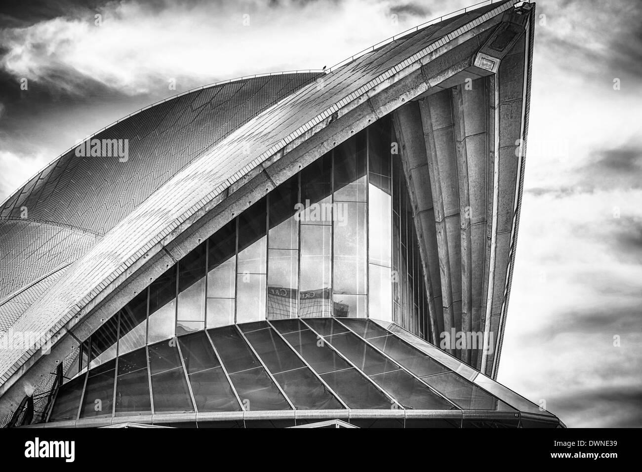 La Sydney Opera House e la vela Immagini Stock