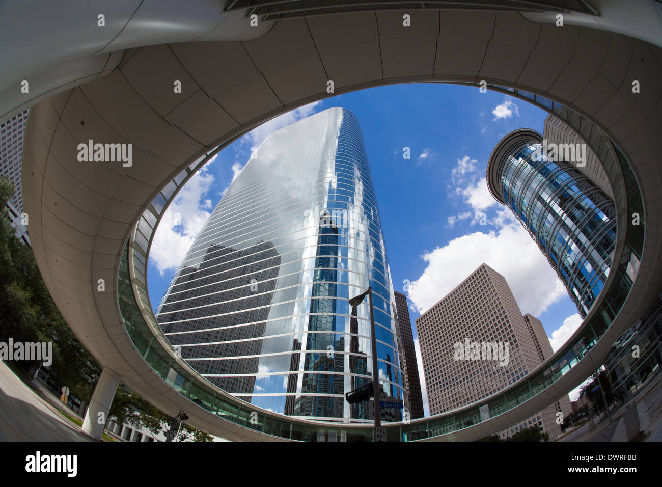 Houston, Texas, Stati Uniti d'America, centro di architettura moderna Immagini Stock
