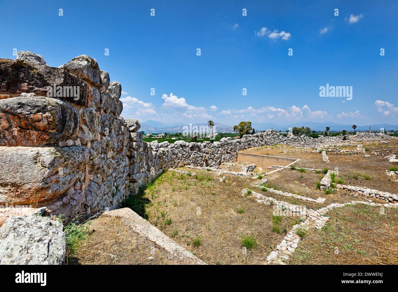 Le mura ciclopiche in Tirinto (1.400 - 1.200 a.C.), Grecia Immagini Stock
