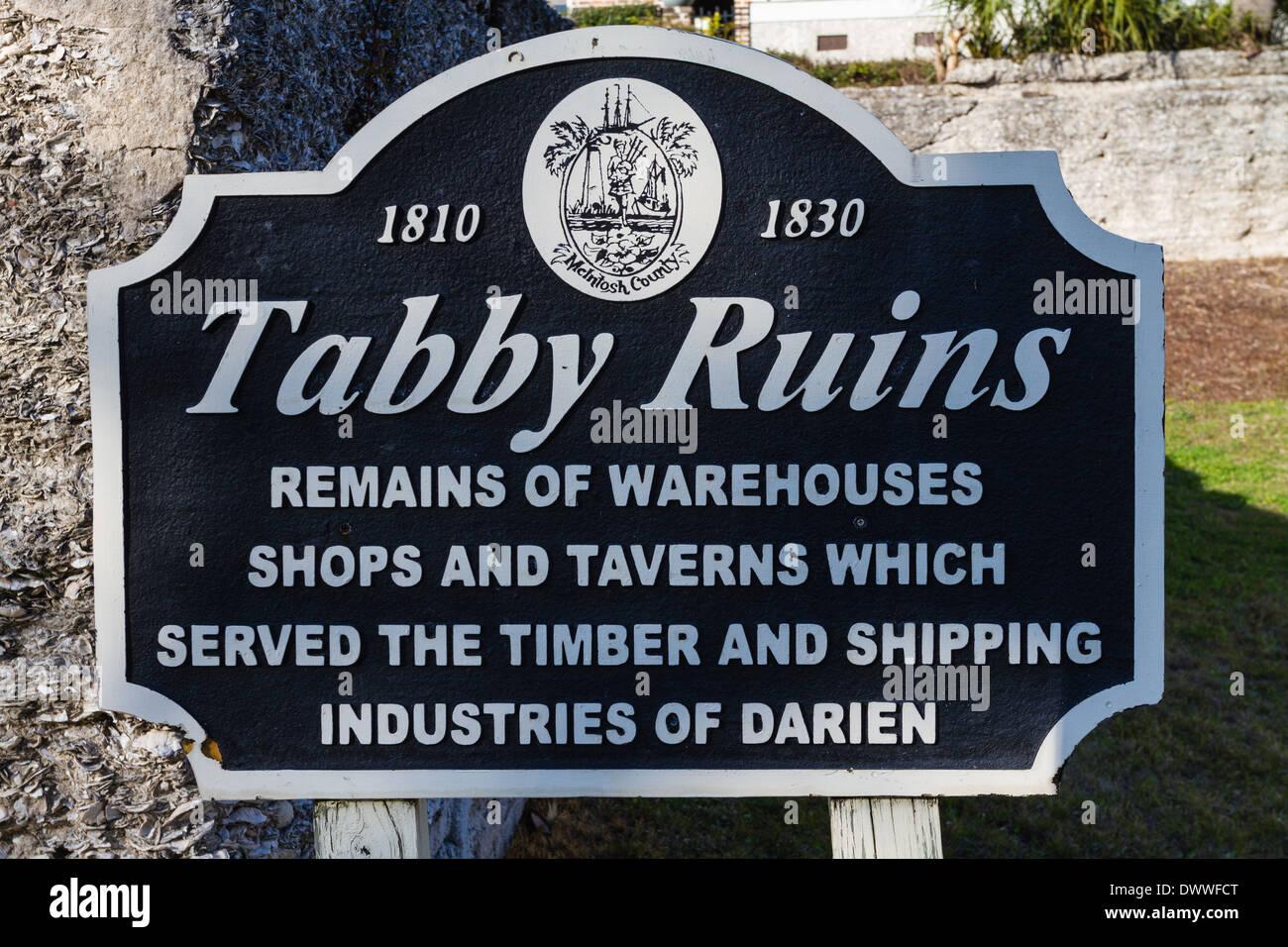 Tabby warehouse resti in Darien, Georgia. Immagini Stock