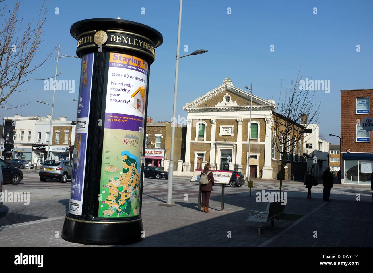 Bexleyheath città contea del Kent a sud est di Londra Regno Unito 2014 Immagini Stock