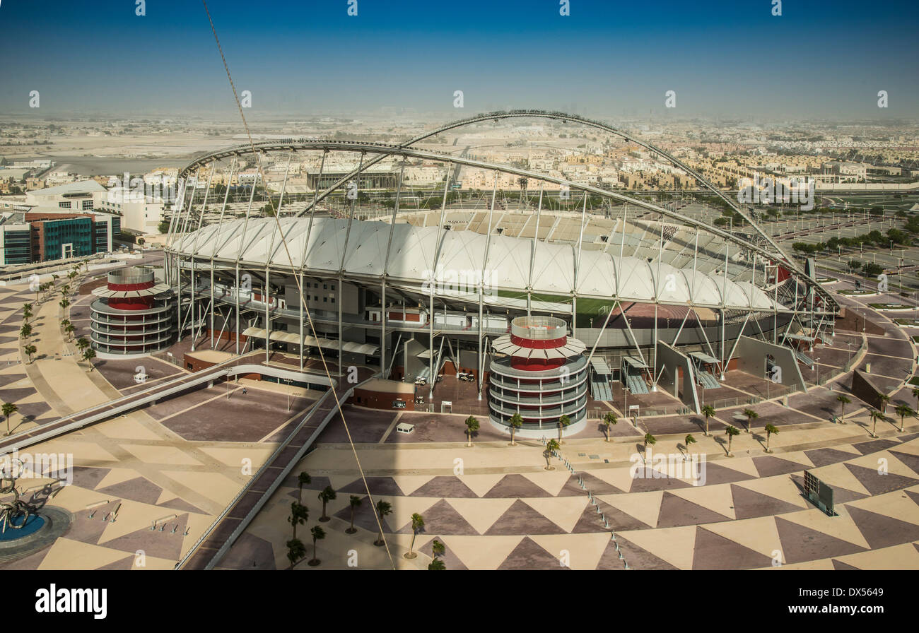 Khalifa International Stadium, aspirano Zona, Sports Park, Doha, Qatar, Emirati Arabi Uniti Immagini Stock