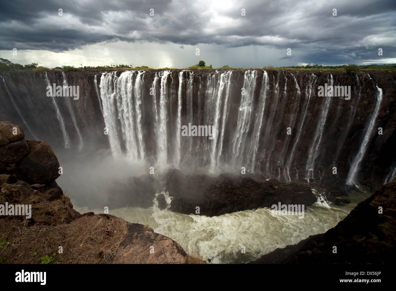 Victoria Falls, Zimbabwe Immagini Stock
