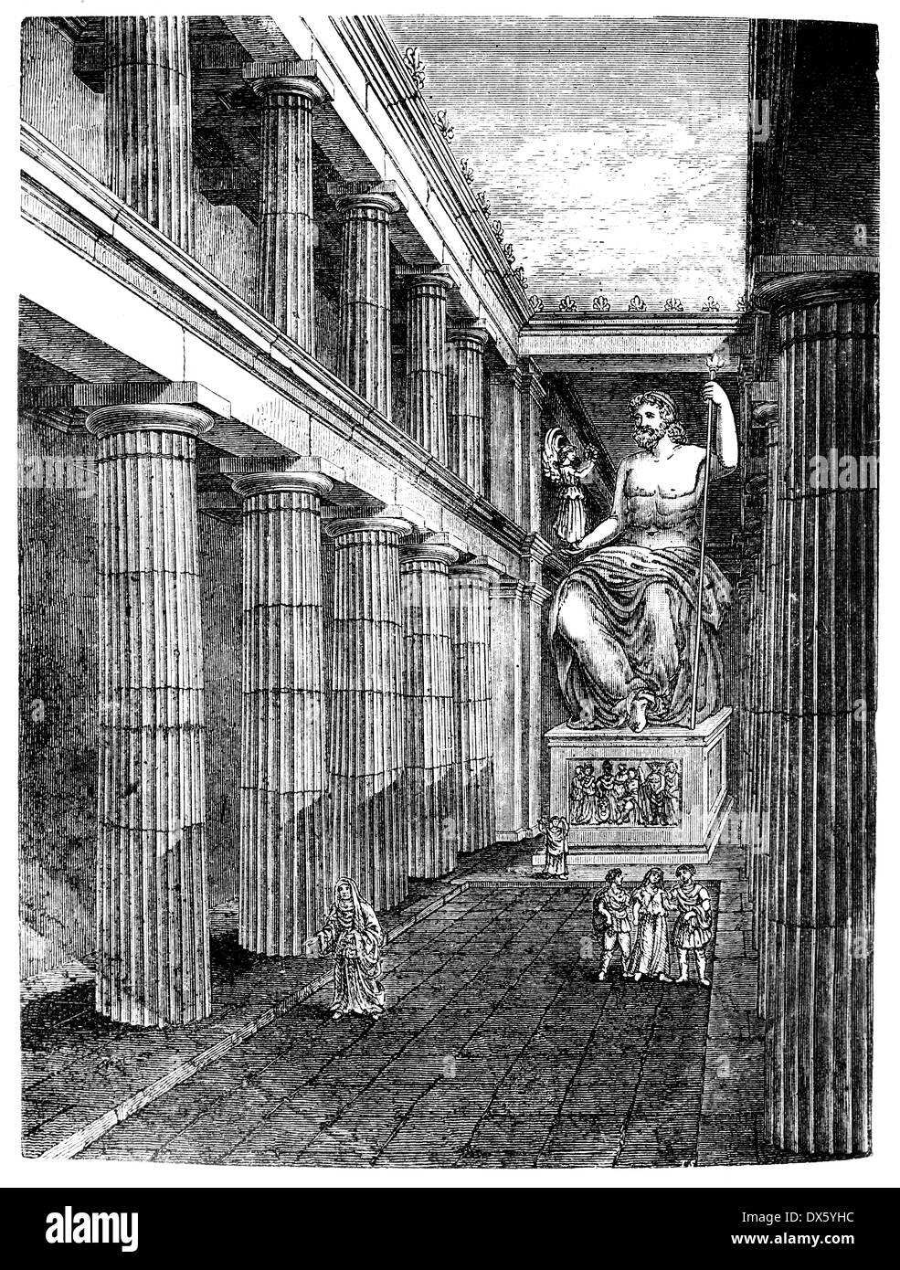 Zeus Architettura D Interni.Interno Del Tempio Di Zeus Olympia Grecia Illustrazione Dal Libro