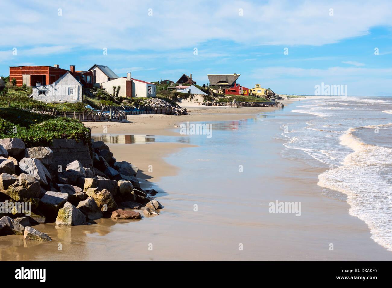 Aguas Dulces spiaggia di Rocha, Uruguay Immagini Stock