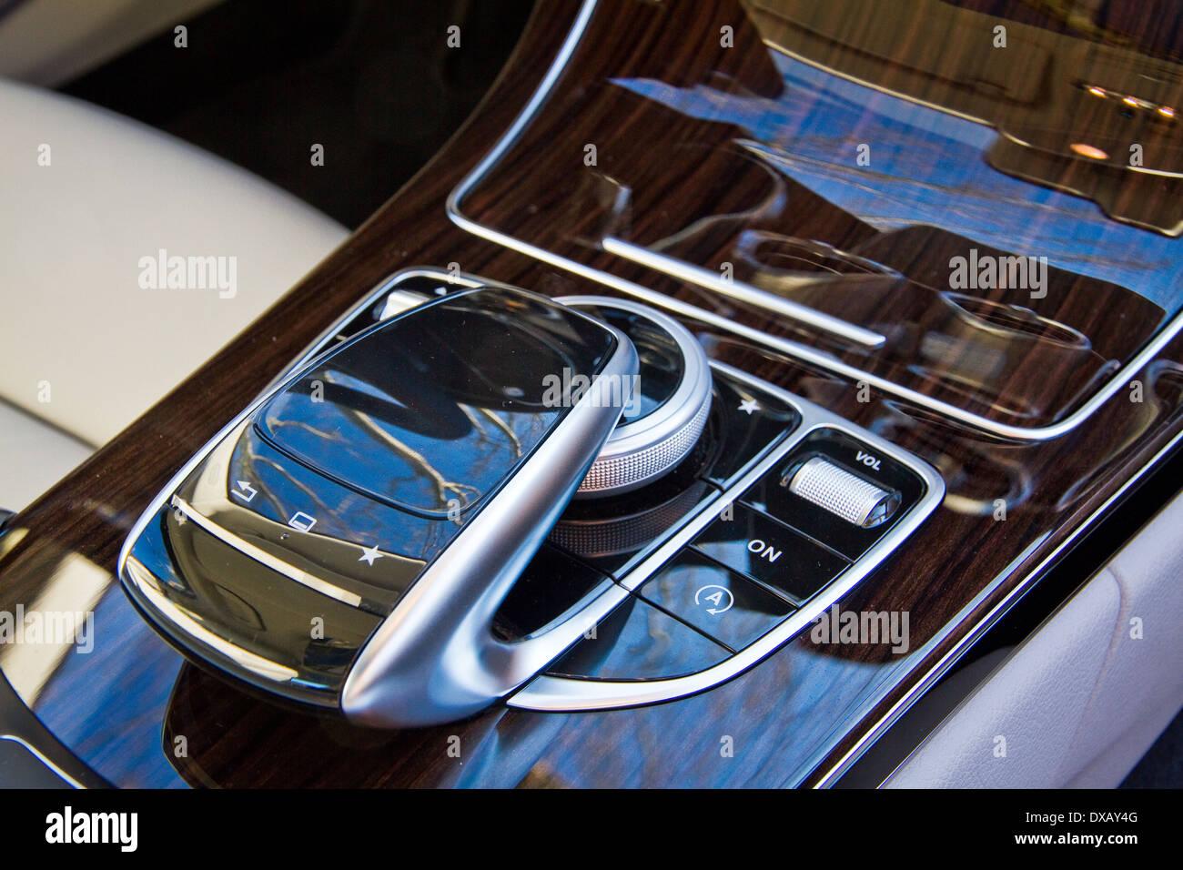 Mercedes-Benz Classe C tampone della grafia in auto Immagini Stock