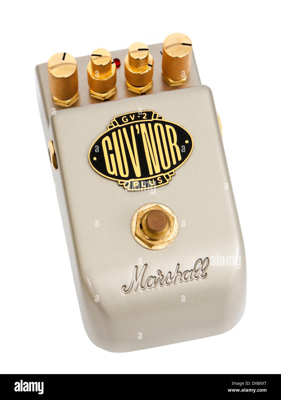 Marshall GV-2 Guv'nor Plus effetti chitarra pedale Immagini Stock