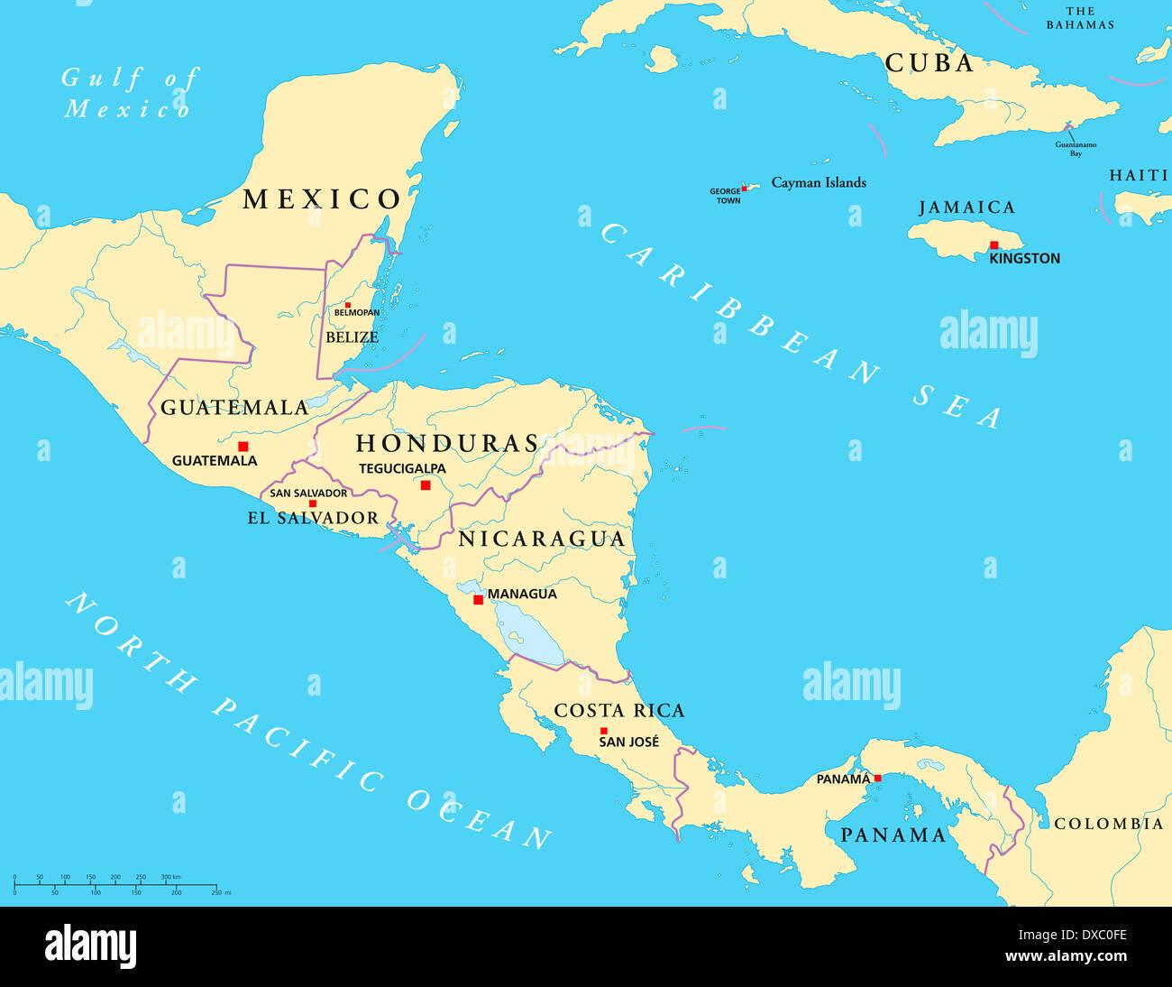 Cartina Geografica Centro America.Mappa Del Centro America Immagini Mappa Del Centro America