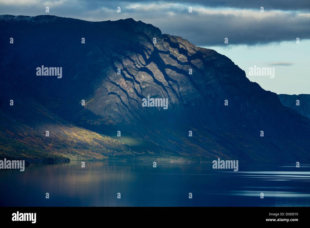 Il lago di Tagish, Carcross, British Columbia, Canada Immagini Stock