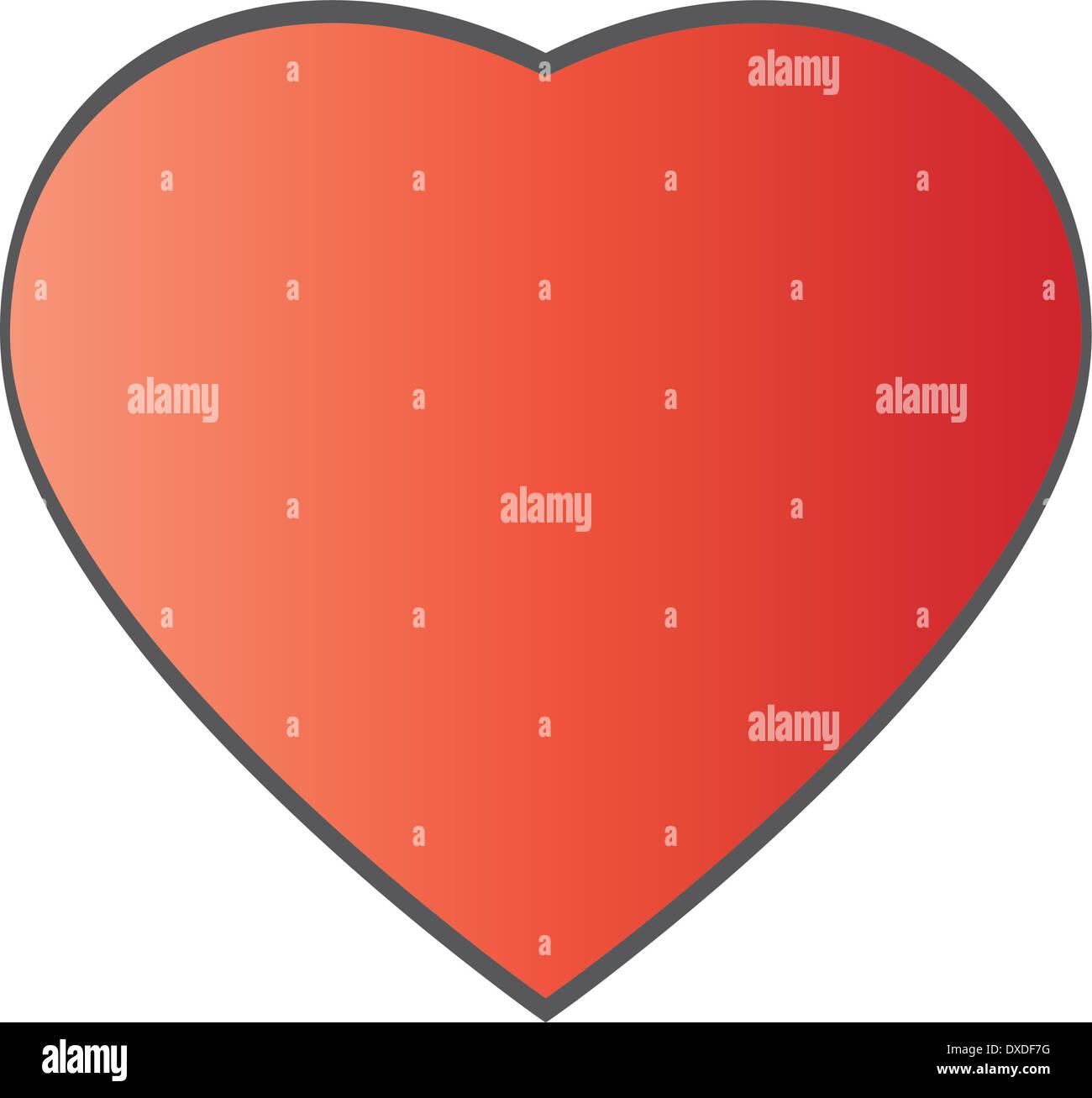 San Valentino cuore Immagini Stock