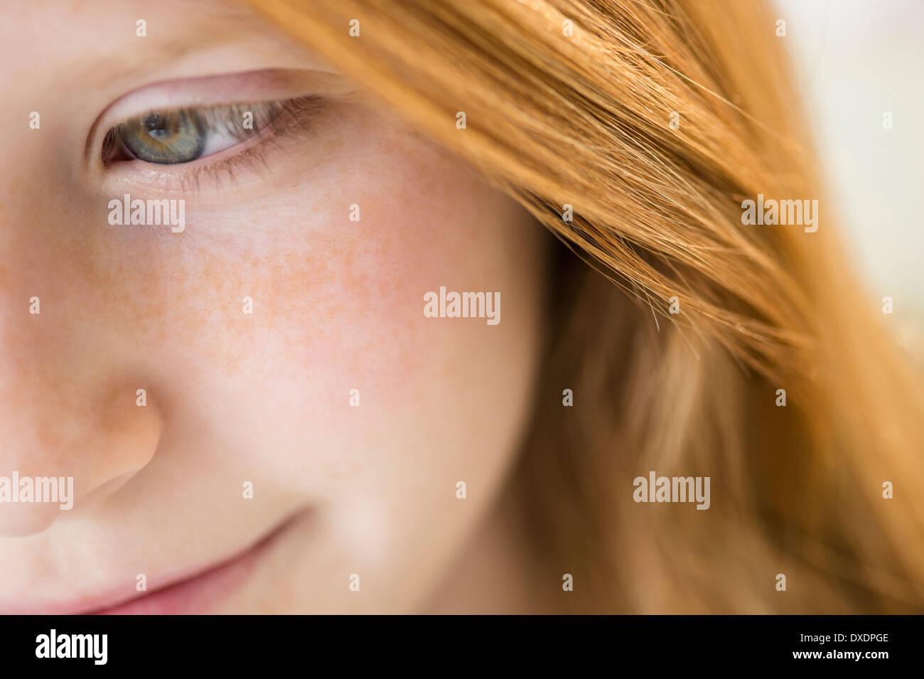 Close up del viso della ragazza Immagini Stock