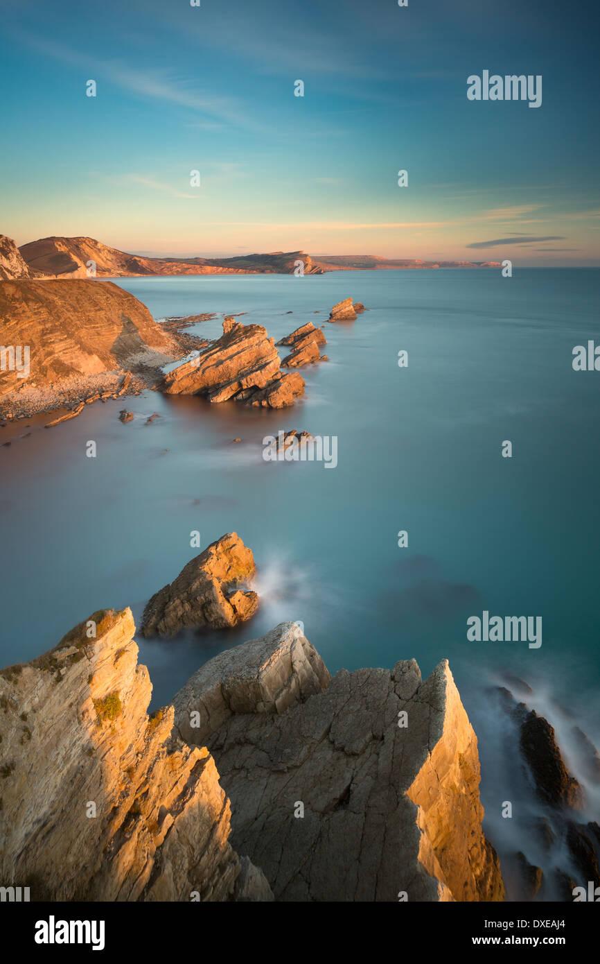 Mupe Bay, Jurassic Coast, Dorset, England, Regno Unito Immagini Stock