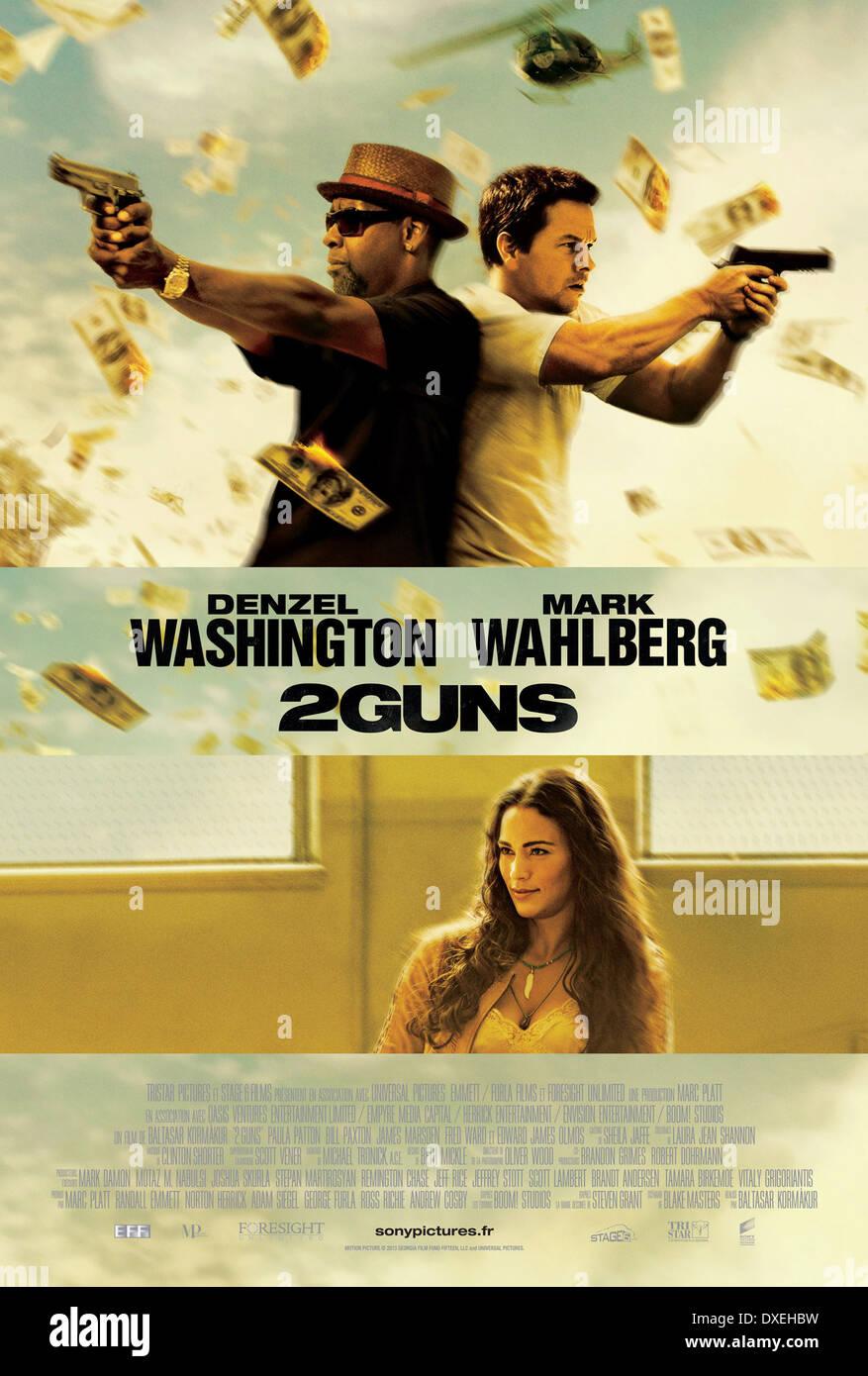 2 pistole Anno : 2013 USA Direttore : Baltasar Kormákur Mark Wahlberg, Mark Wahlberg poster (Fr) Immagini Stock