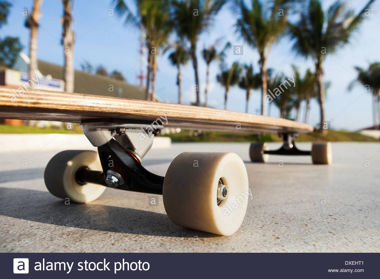 Skateboard sul lungomare. All'aperto Immagini Stock