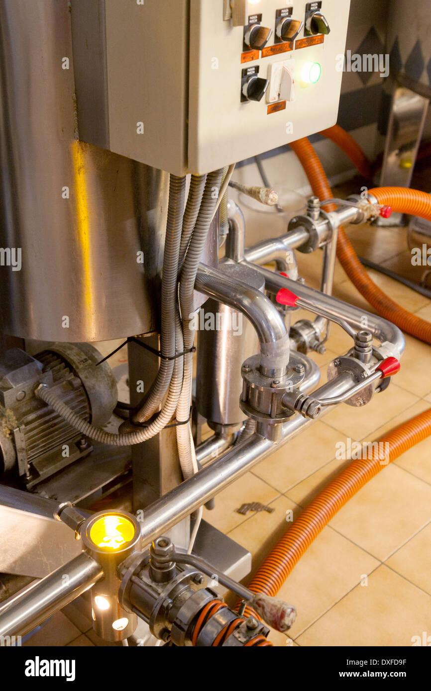 Fabbrica Macchine macchine close up Immagini Stock