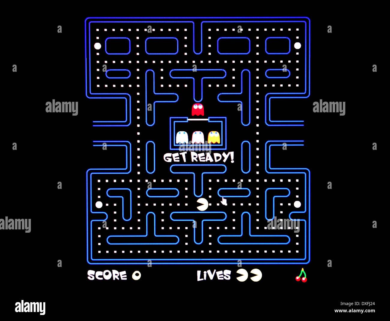 Pacman, classic 80's arcade game Immagini Stock