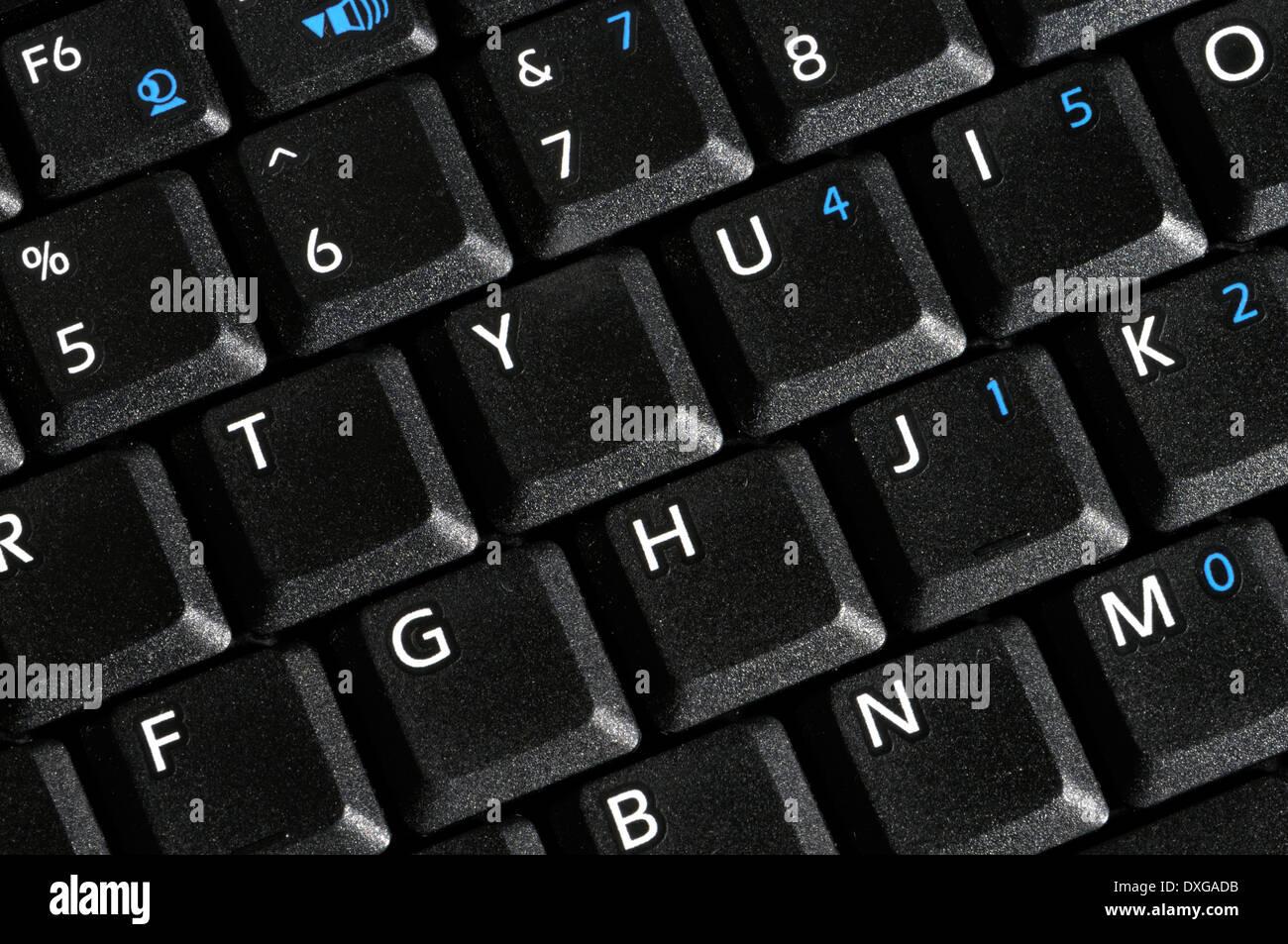 Computer portatile tastiera Foto Stock