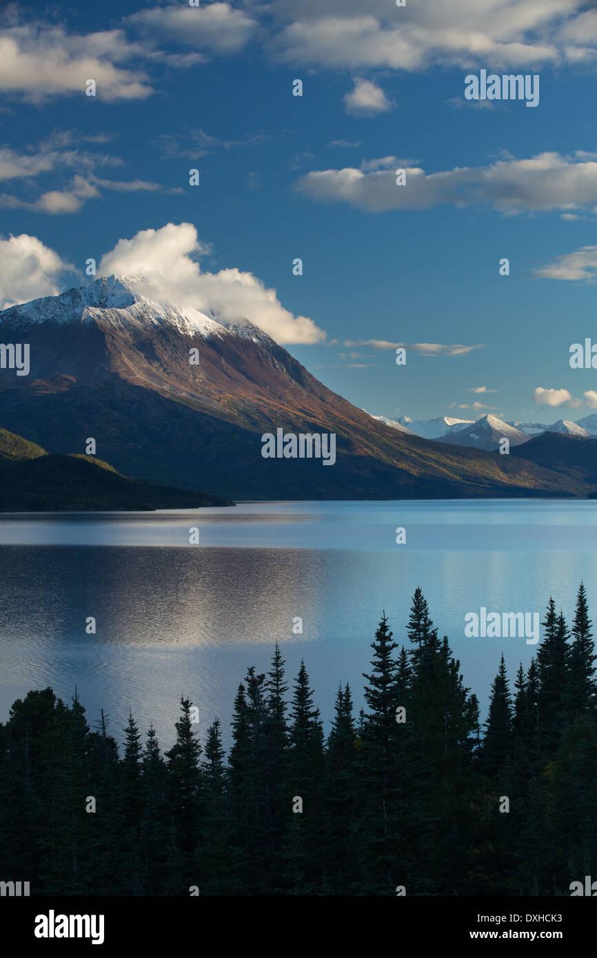 Lago Tutshi, British Columbia, Canada Immagini Stock