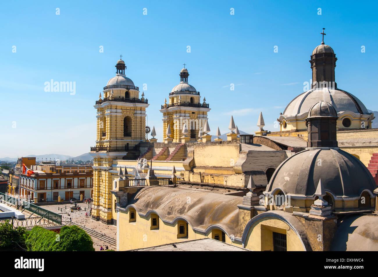 San Francisco monastero, centro di Lima, Perù Immagini Stock