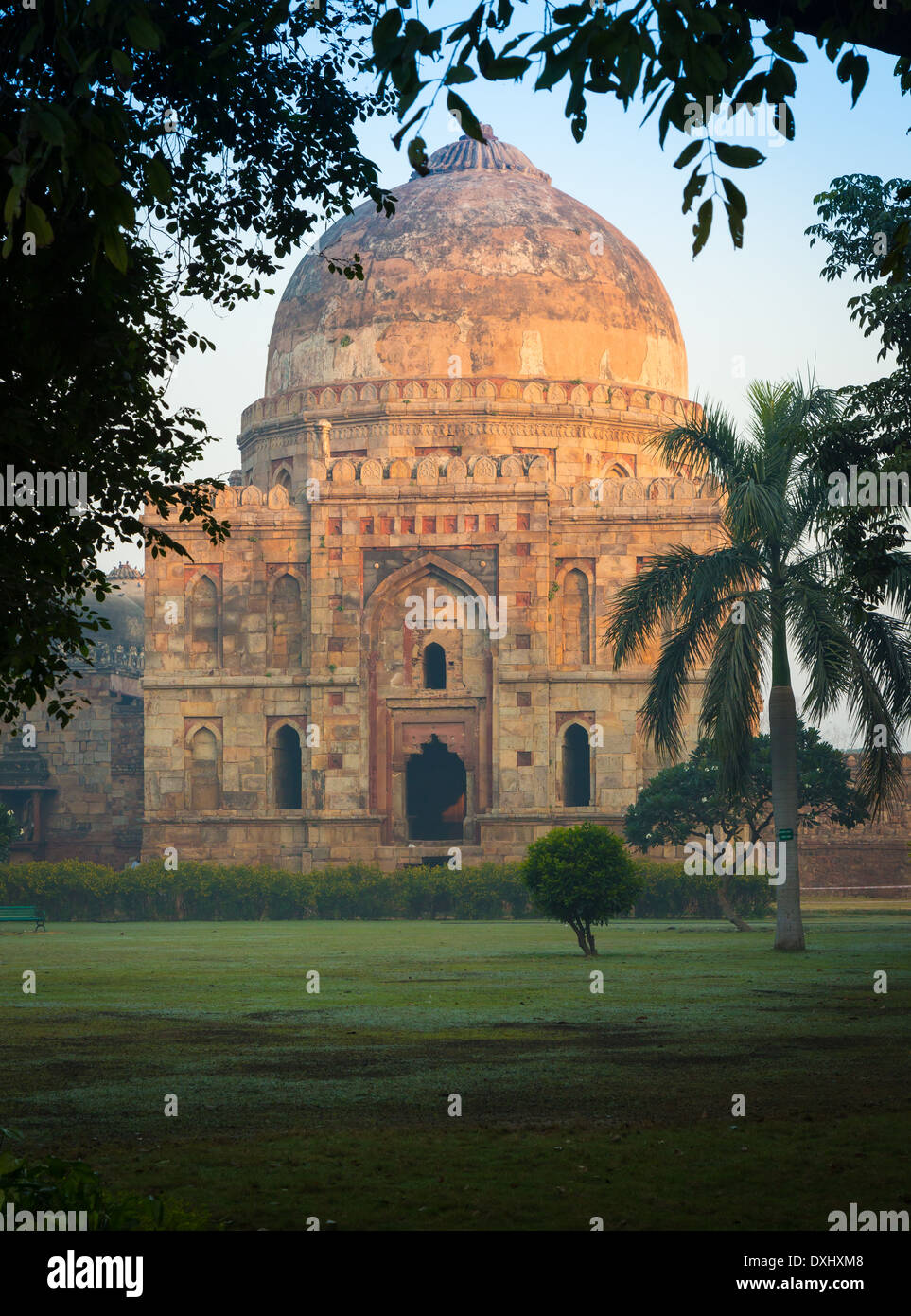 Bara Gumbad in Lodi Gardens, New Delhi, India Immagini Stock