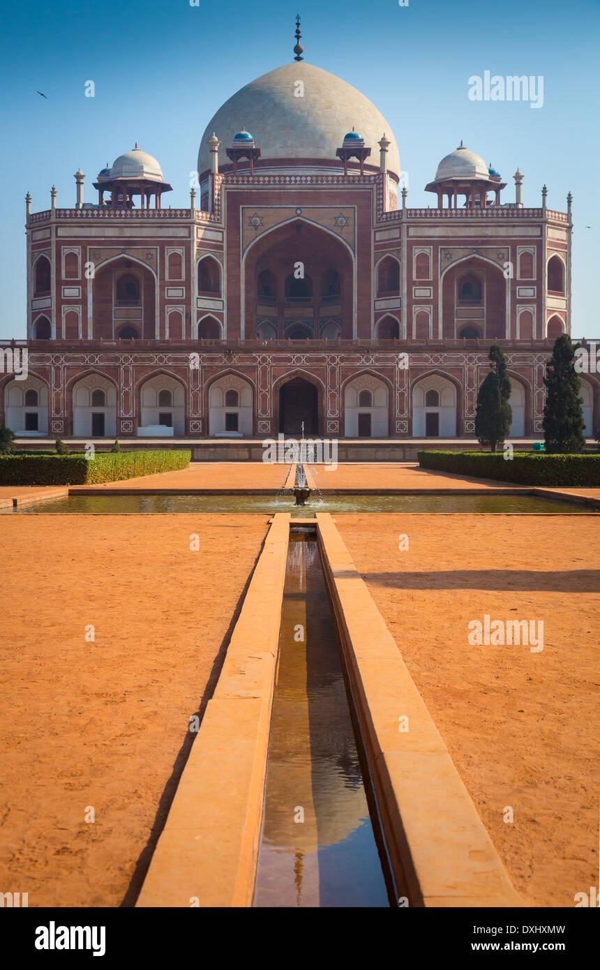 La tomba di Humayun è la tomba dell'imperatore Mughal Humayun Immagini Stock
