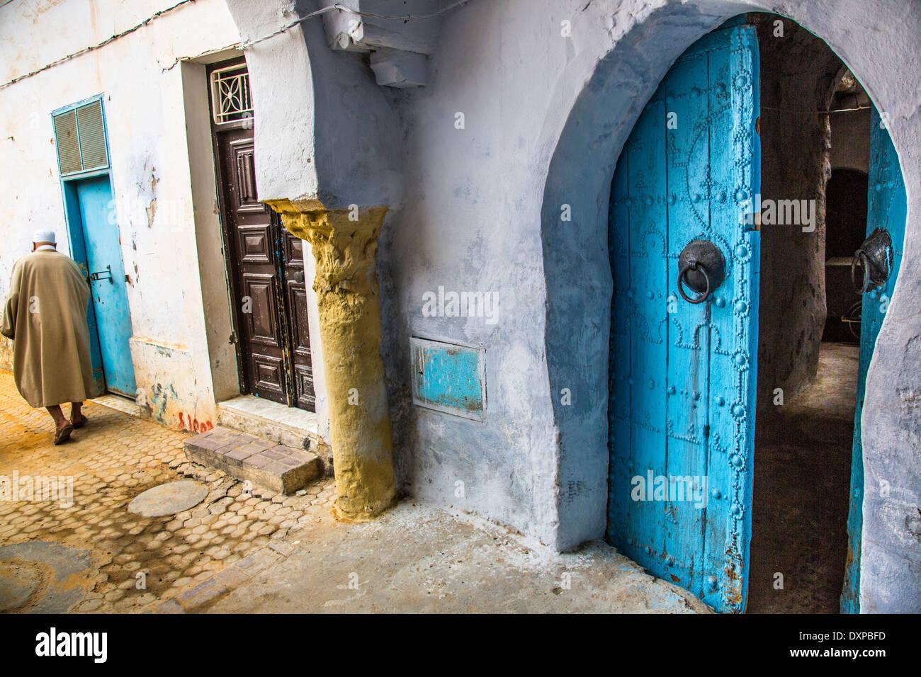 La città vecchia, Kairouan, Tunisia Immagini Stock