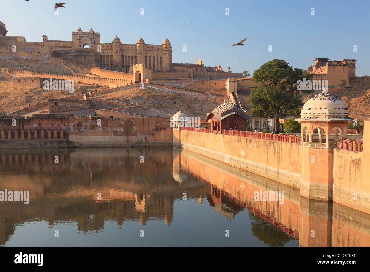 India Rajasthan, Jaipur, Forte Amber Immagini Stock