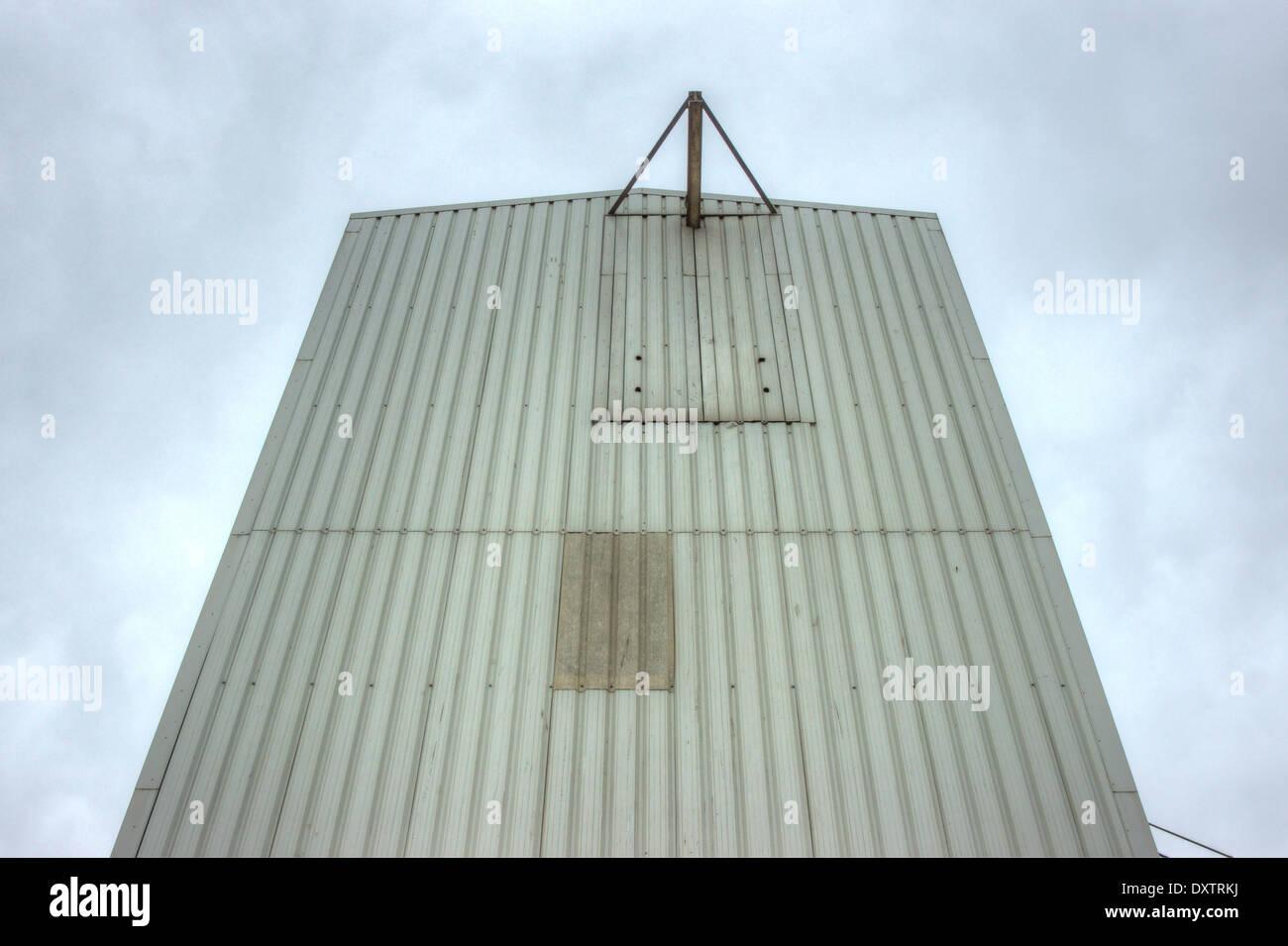 Acciaio industriale edificio. acciaio magazzino strutturato Immagini Stock
