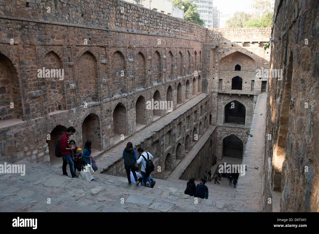 India, Uttar Pradesh, New Delhi, Ugrasen Ki Baoli Immagini Stock
