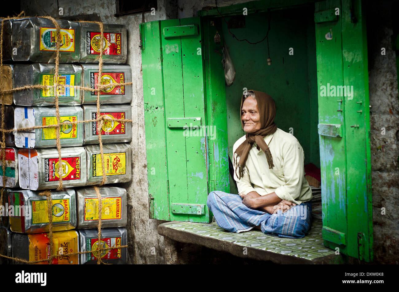Negoziante ,Kolkata Immagini Stock