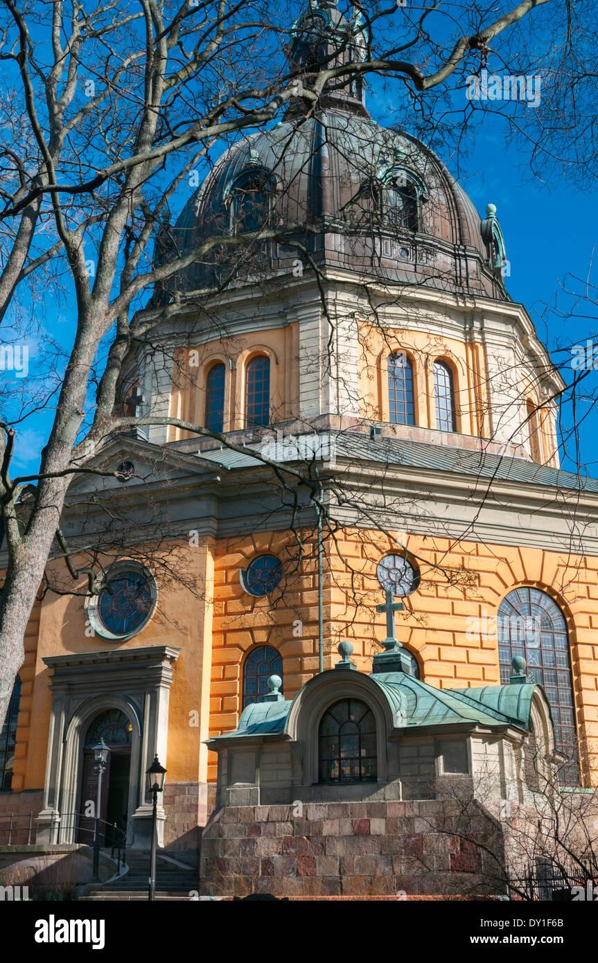 Hedvig Eleonora Chiesa Ostermalm Stockholm Svezia Immagini Stock